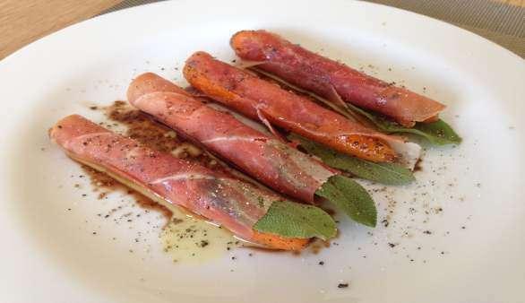 Gewickelte Karotten